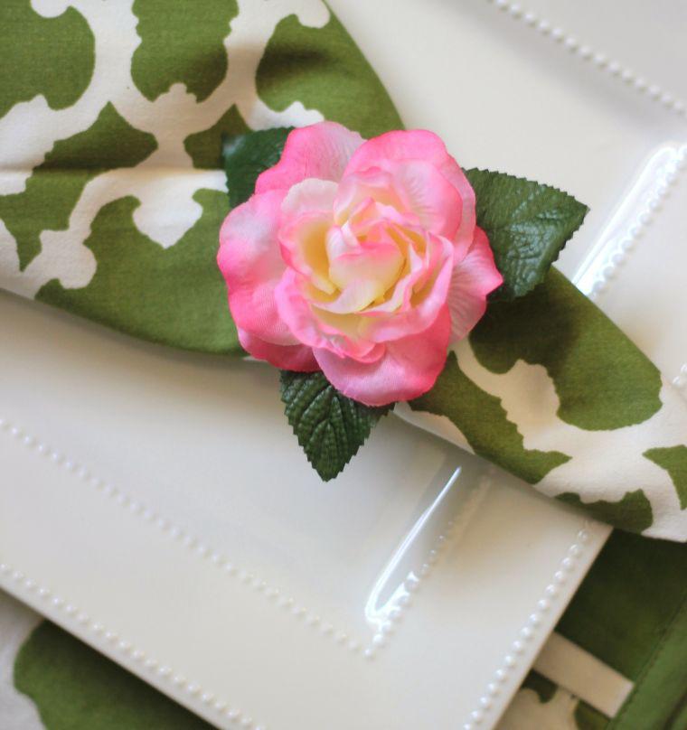 Eine Blume mit einer Serviette - Servietten Falten