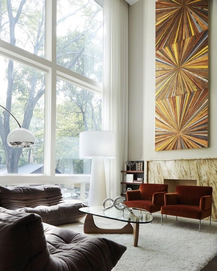 Geheimnisse des Innendesigns enthüllt modernes Wohnzimmer in erdigen Farben Weiß Grau