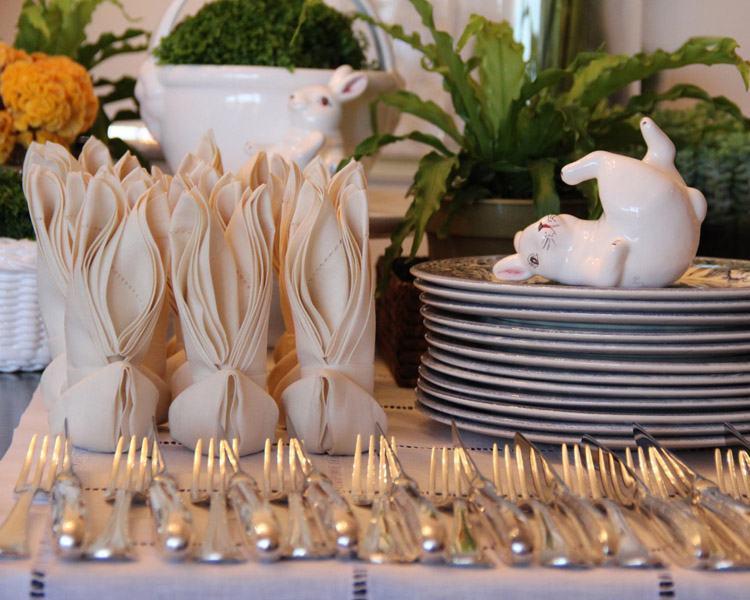 Geschirr und Besteck - Oster-Bastelideen