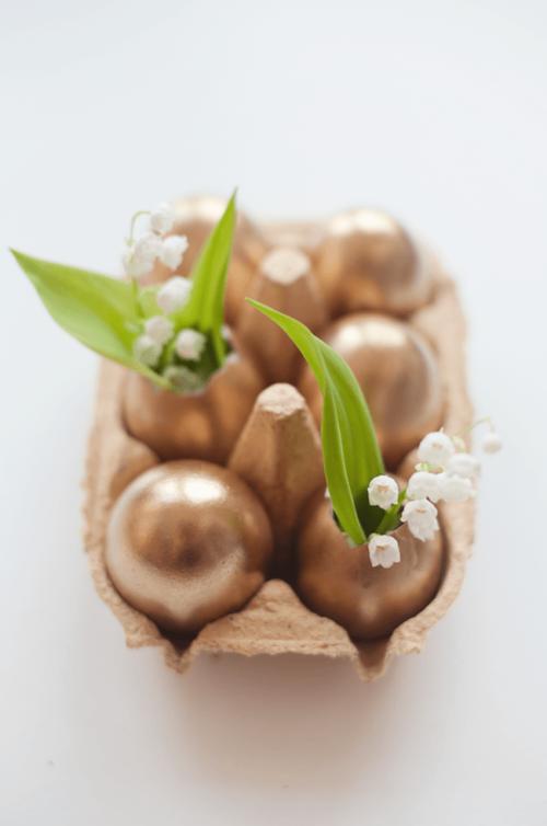 Goldene Eier - Bastelideen für Kinder und Erwachsene - Oster-Bastelideen