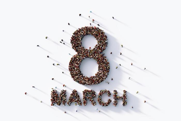 Internationalen Frauentag am 8.März feiern weltweit seit 1977 Each for Equal Motto aller Veranstaltungen