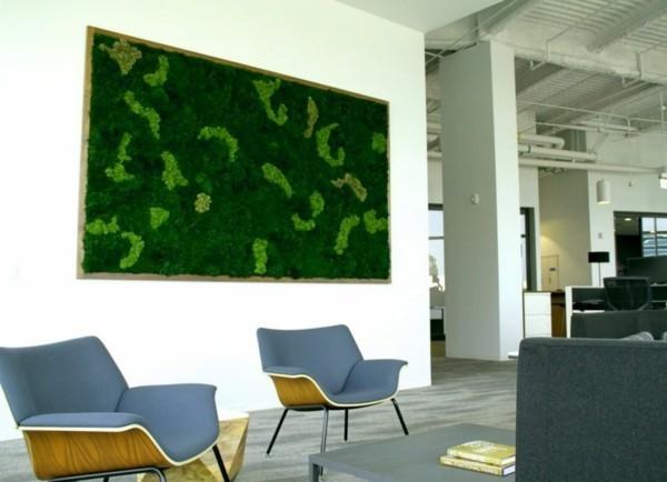 Mooswand selber machen Biophilie Wohntrends umsetzen Wanddeko Ideen