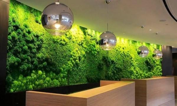Mooswand selber machen Biophilie grüne Wandverkleidung