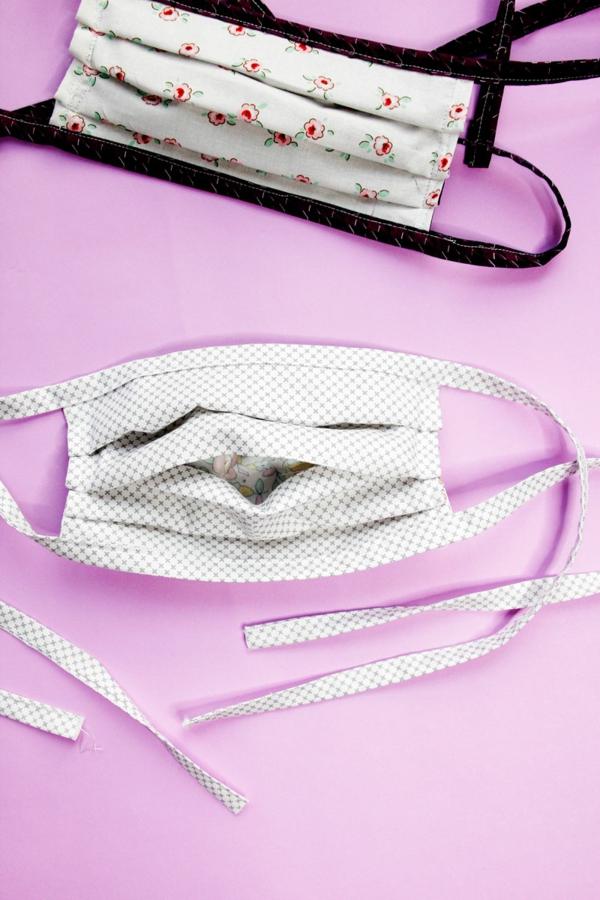Mundschutz Maske selber nähen Faltmaske Atemschutzmaske