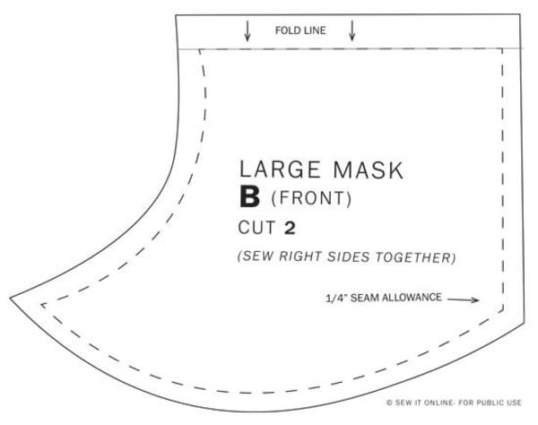Mundschutz Maske selber nähen Größe Atemschutzmaske