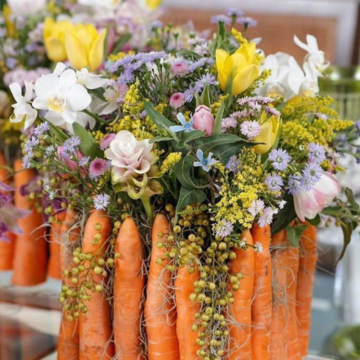 Oster-Bastelideen Blumenstrauß Ideen