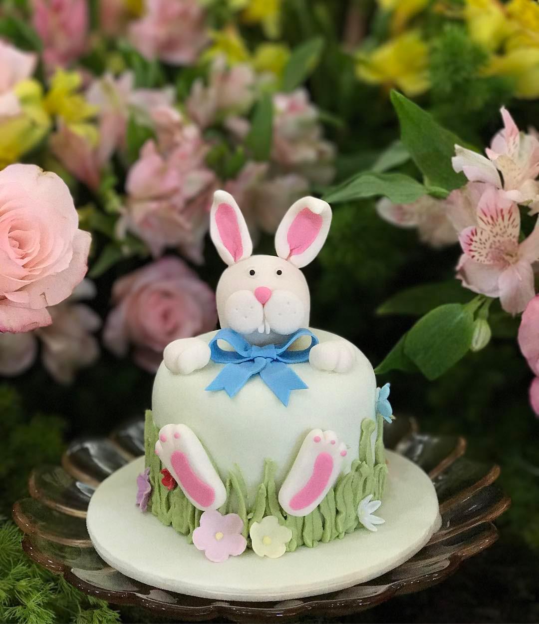 Oster-Bastelideen kleine Torte zu Ostern