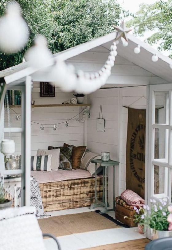 Outdoor - Trends 2020 Gartenhaus in Ruhe-Oase verwandelt Bett aus Paletten selber bauen