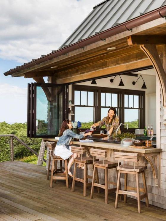 Outdoor - Trends 2020 Getränkebar im Freien Frühstück zubereiten mit der Familie frühstucken