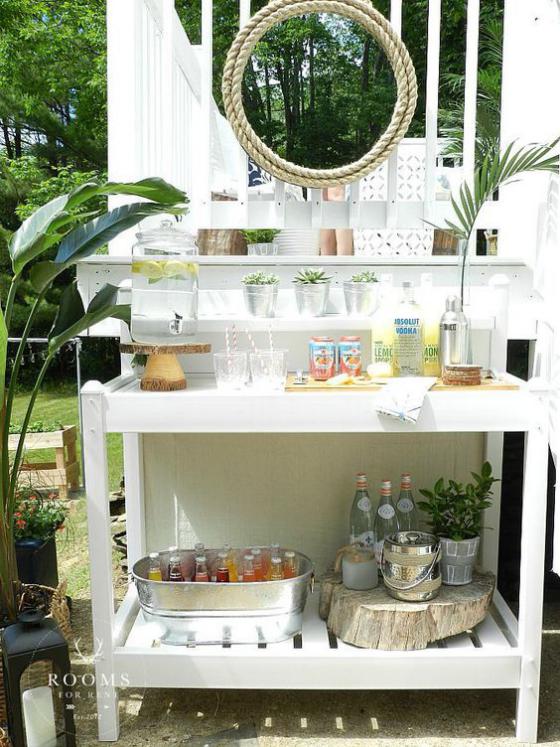 Outdoor - Trends 2020 Getränkebar im Freien frische Drinks an den heißen Tagen genießen