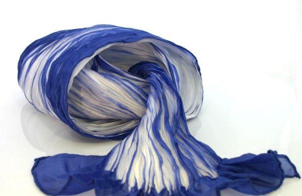 Runder Schal - verschiedene Farben - Shibori Technik