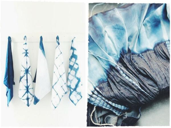 Schals und Tücher Shibori Technik