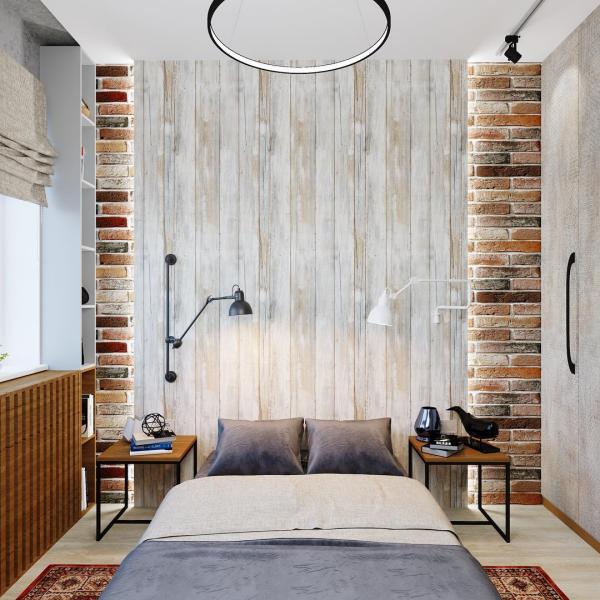 Schlafzimmer Ideen - Industrielle Ideen Wandgestaltung