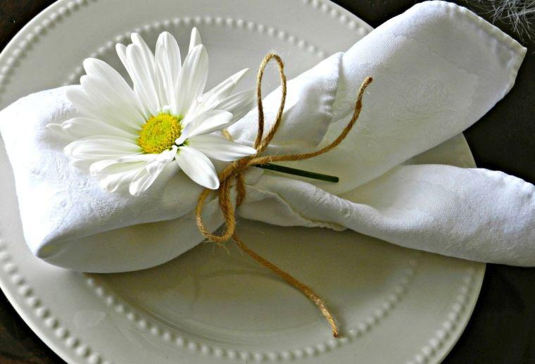 Servietten Falten - Falttechnik mit Blumen