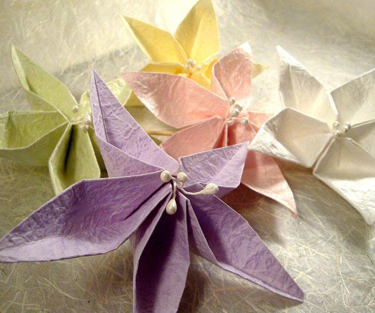 Servietten Falten - Ideen mit Papiersternen