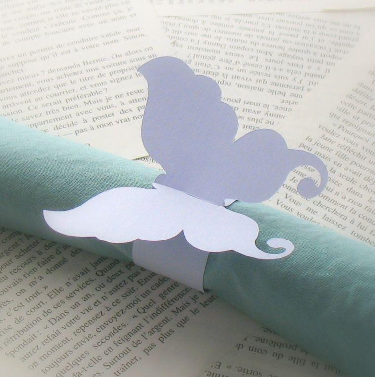 Servietten Falten - Ideen mit Schmetterlingen