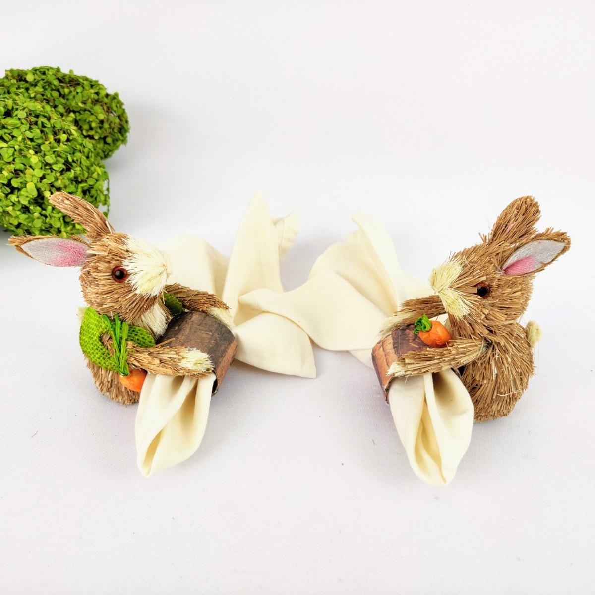 Servietten Falten - Tisch mit Hasen dekorieren