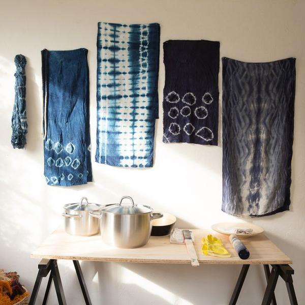 Shibori Technik- Ideen für die Kücheneinrichtung
