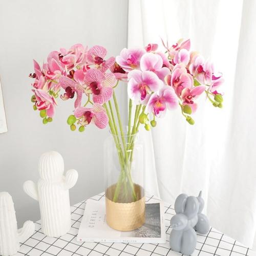 Tischdeko mit Orchideen Badezimmer dekorieren rora Orchidee in Vase
