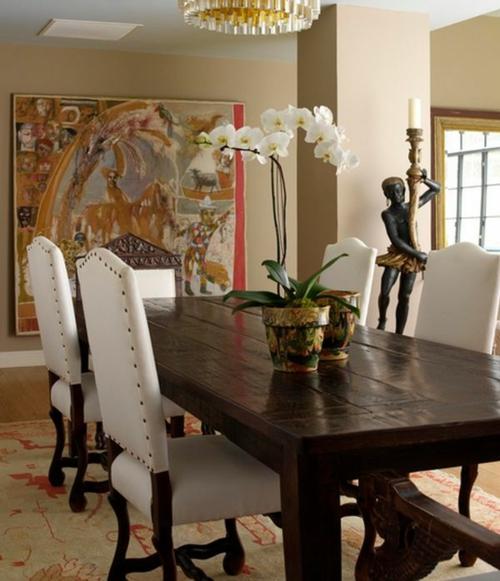 Tischdeko mit Orchideen Zimmerpflanzen Topfpflanzen