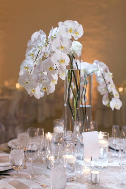 Tischdeko mit Orchideen festliche edle Hochzeitsdekoration