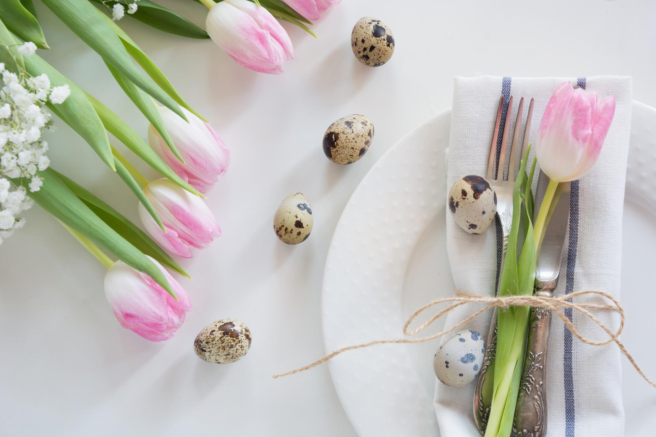 Tulpen Tischdeko - Servietten Falten