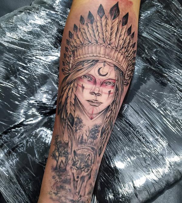 arm verzieren indianer tattoo