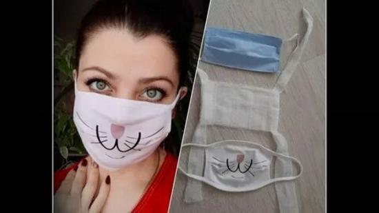 atemschutzmaske hasen design