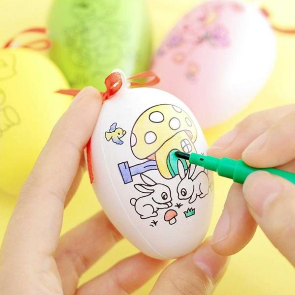 ausgeblasene Eier dekorieren Ideen Osterdeko