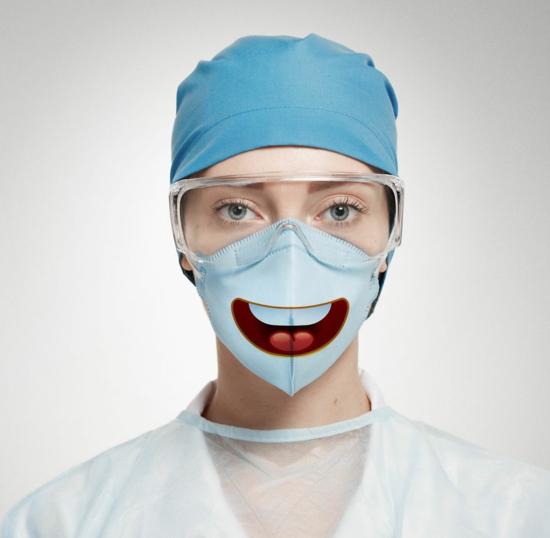 chirurgische atemmaske smiley emoji