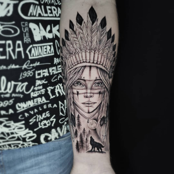 damenschmuck inspiration indianer tattoo