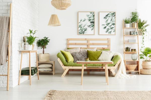 farbe limette - grün auf neutral - wohnideen