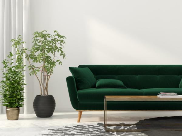 gelbes sofa - wohngestaltung - wohnideen