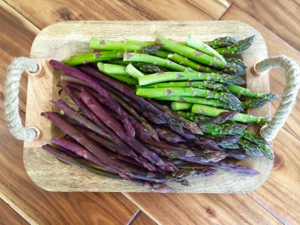 grünen Spargel zubereiten violett Spargelsorte