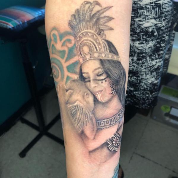 indianer tattoo - eine tolle figur
