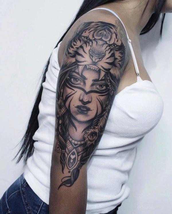indianer tattoo - gesicht ideen - gesichter