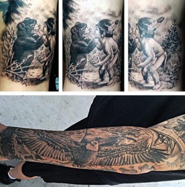 indianer tattoo muster indianer tattoo