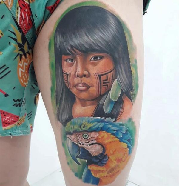 indianer tattoo tolle ideen
