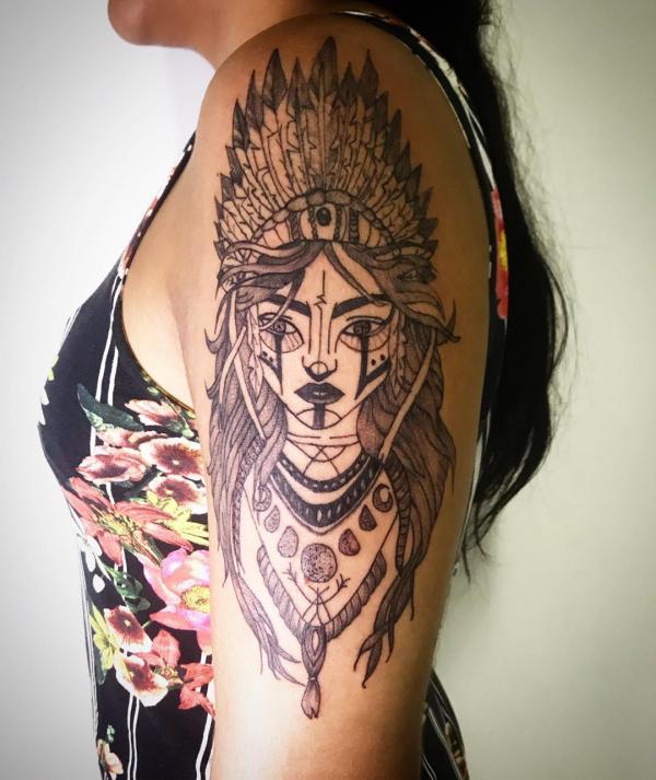 indianer tattoo trendige tattoo ideen