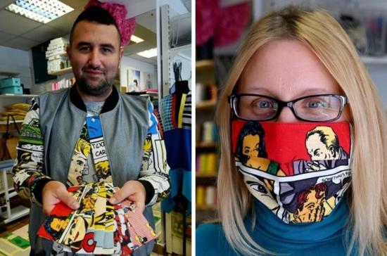 kroatischer designer atemschutzmaske comics