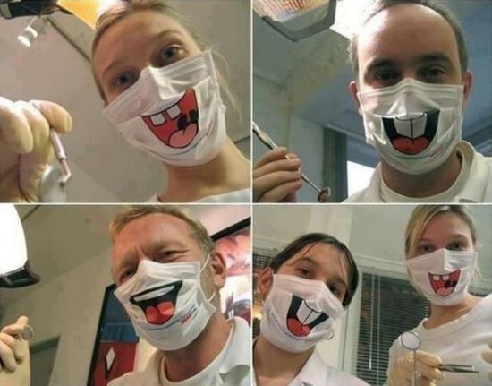 lustige chirurgische atemmaske hasen lachen