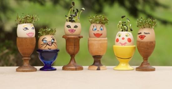 lustige ostereier sprosse nachhaltige ostern ideen