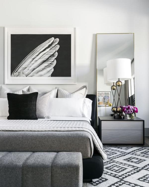 moderne Inneneineichung Ideen für die Inneneinrichtung Schlafzimmer Ideen