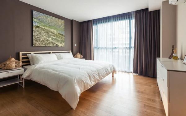 monochrome Inneneinrichtung Schlafzimmer Ideen