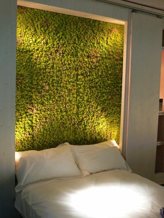 mooswand im schlafzimmer diy wandgestaltung