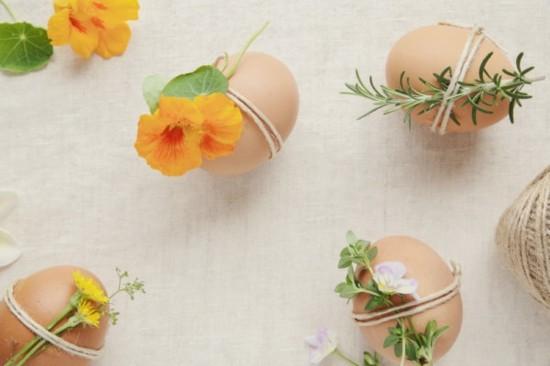 nachhaltige ostern ostereier mit kräutern