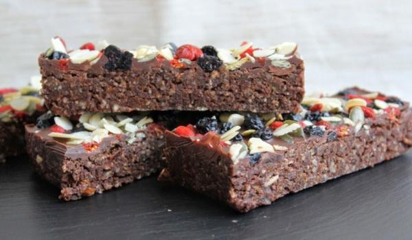 no bake brownie lecker mit datteln gesund