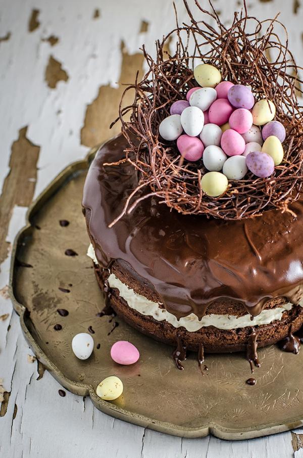 osternest backen osterkuchen mit schokolade