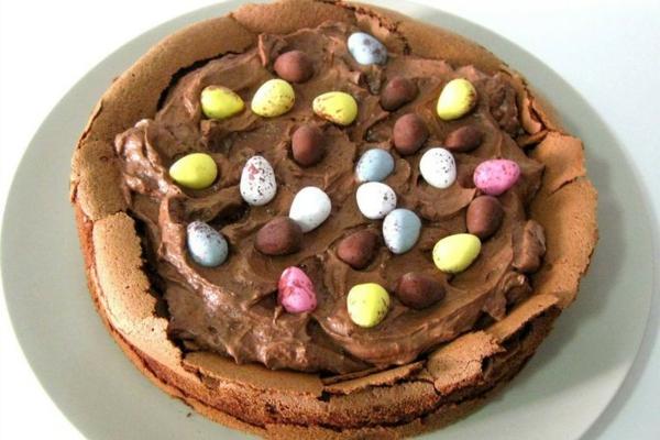 osternest backen schokoladenkuchen zubereiten minieier