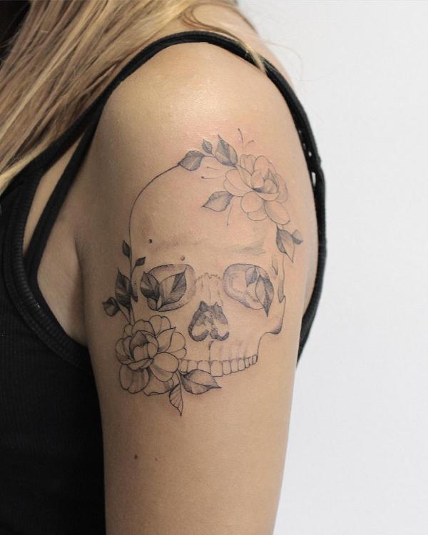 schädel ideen tattoos 2020